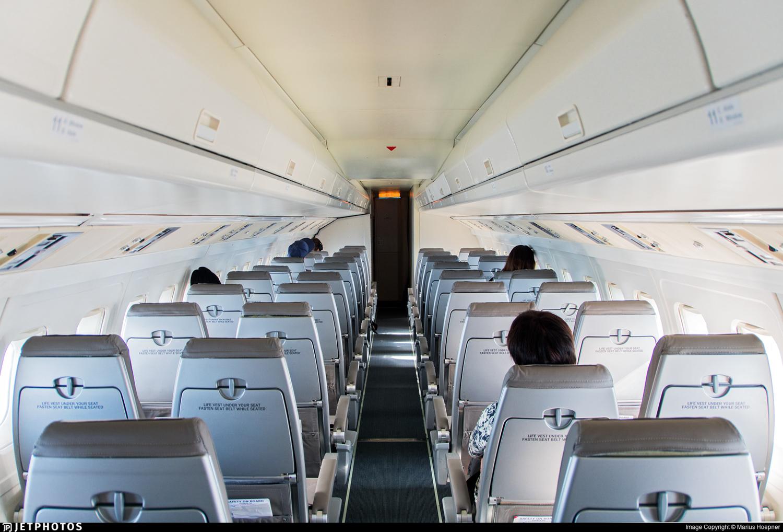 Amapola Fokker 50 cabin Sweden