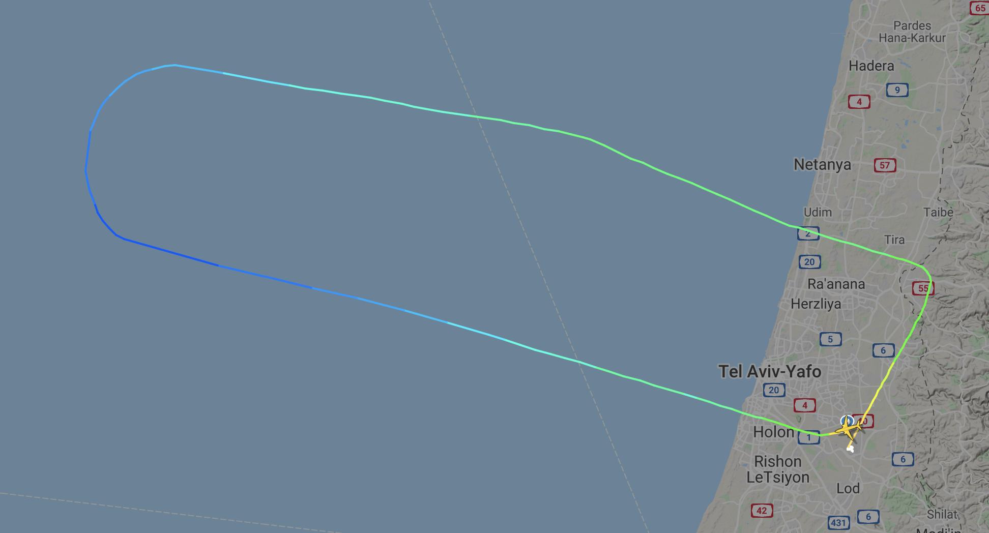 El Al Israel Tel Aviv test flight Abu Dhabi