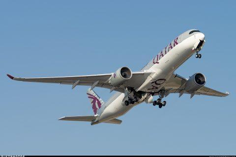 Qatar Airways A350 Barcelona BCN pandemic