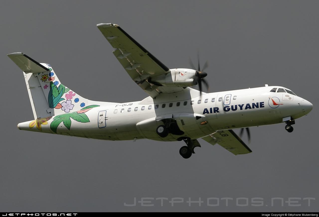 Air Guyane Express green bird French Guiana ATR