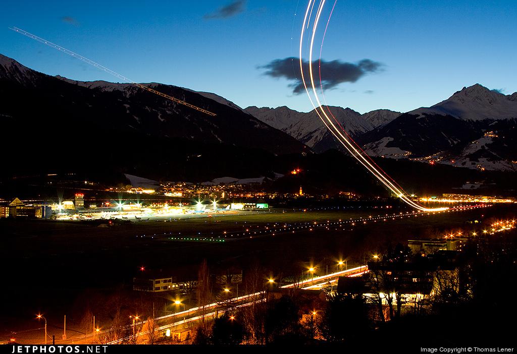 Innsbruck Airport mountains