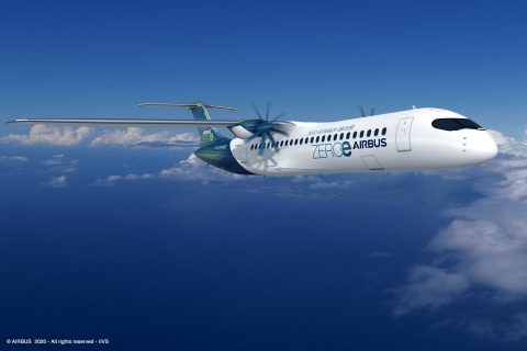 Airbus hydrogen zero-emission aircraft green aviation