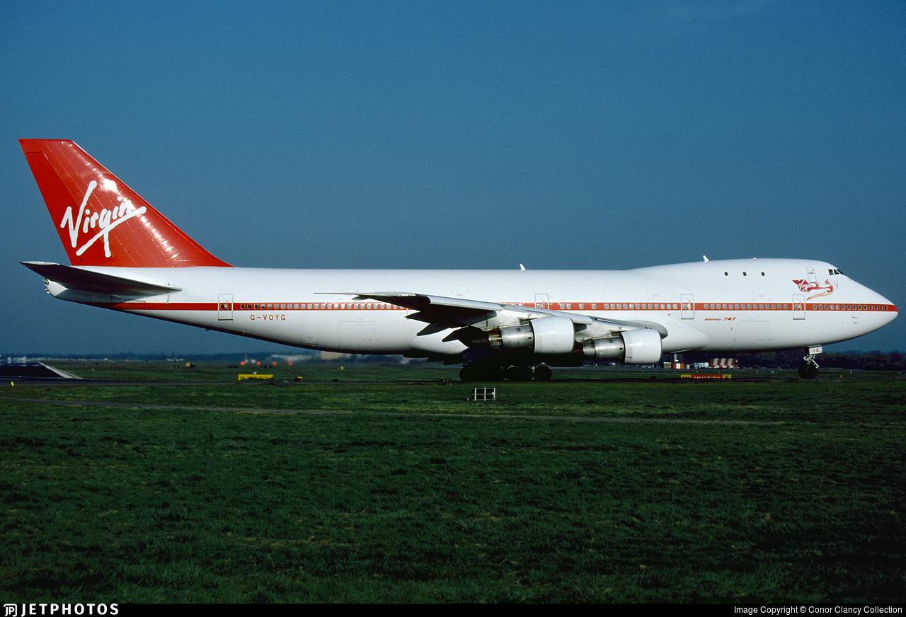 Virgin Atlantic 747 LGW London Gatwick Newark VS1 flight number 1