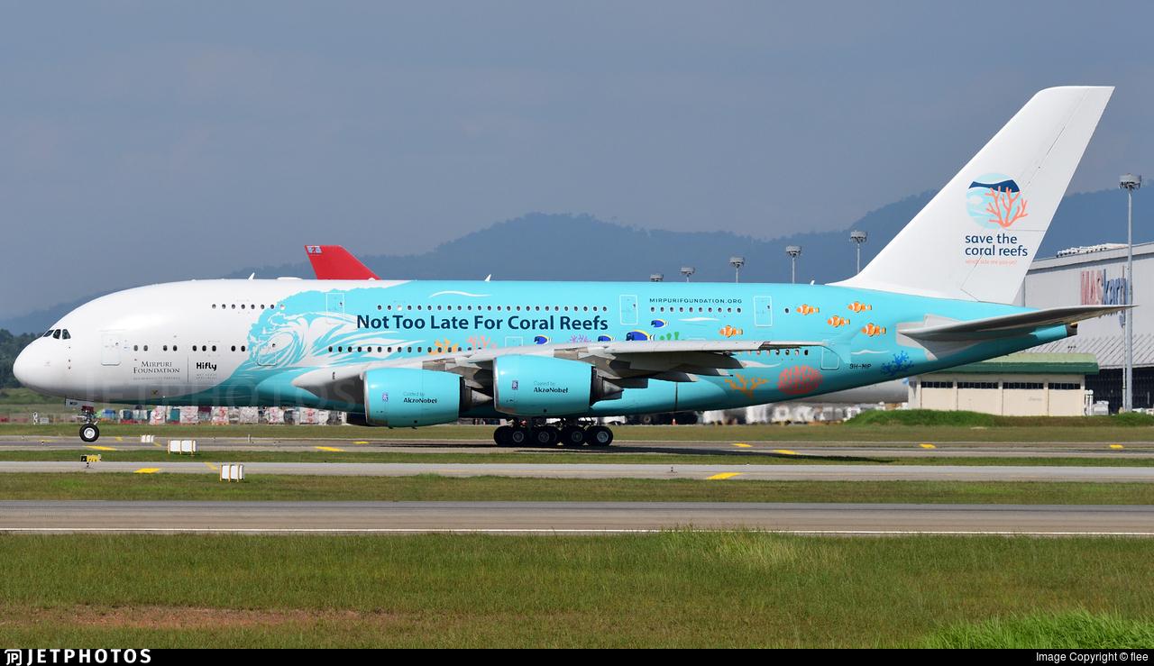 Hi Fly A380 Kuala Lumpur Airbus superjumbo pandemic COVID-19