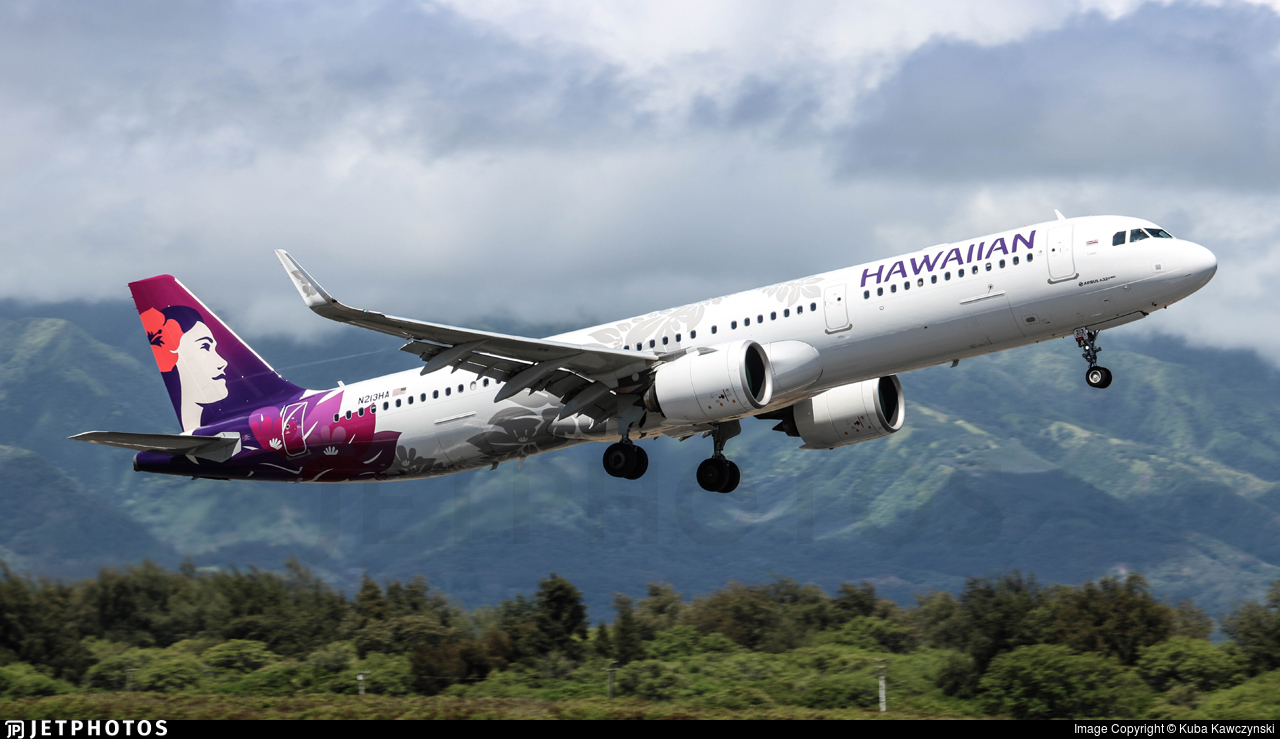 Hawaiian Airlines Hawaii OGG Maui Kahului A321 history airport codes