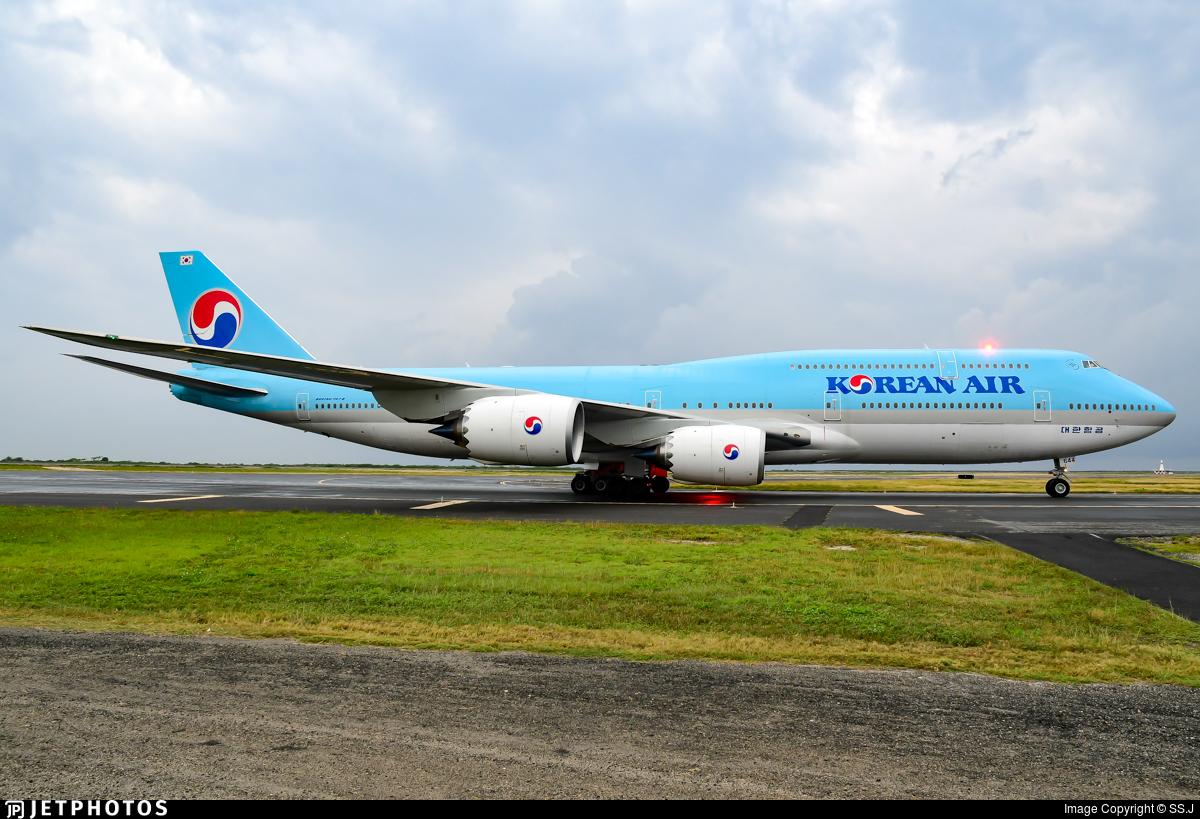 Korean Air 747 Honolulu KE001 flight 1 Tokyo Boeing 747-8 747