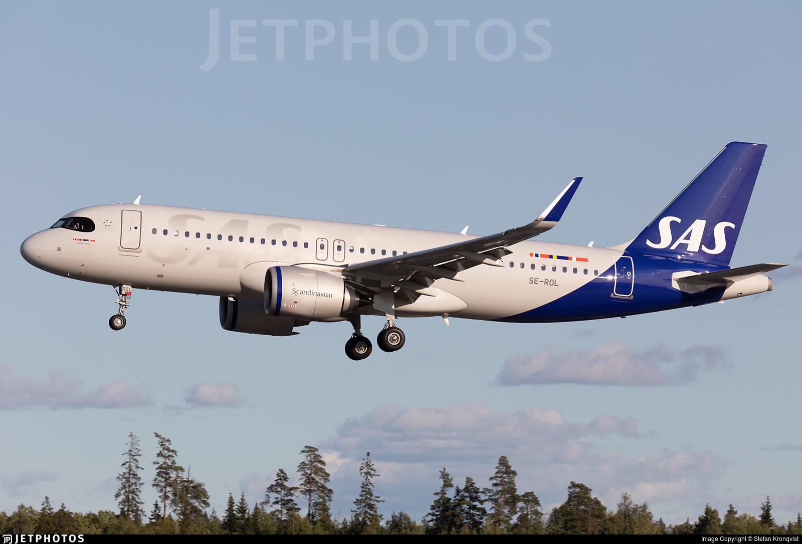 SAS Scandinavian domestic Airbus A320neo flight 1 LLA ARN SK1