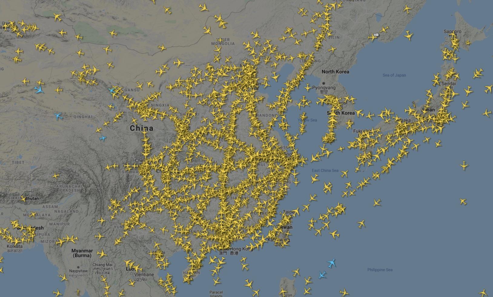 Chinese air traffic