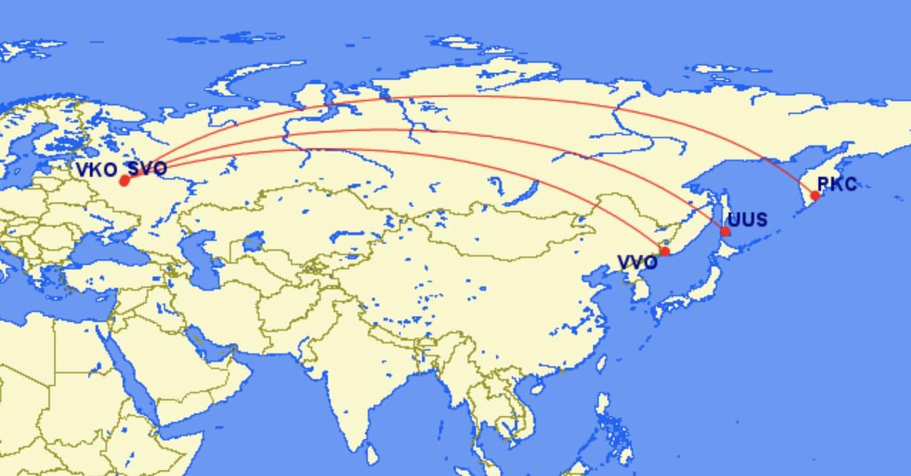 Russia domestic flights Moscow Vladivostok