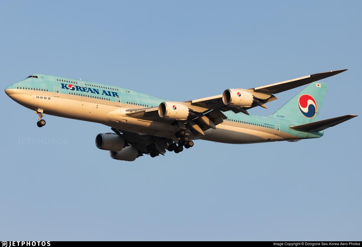 Korean Air 747 747-8I Boeing jumbo jet HL7643 Seoul Incheon Korea