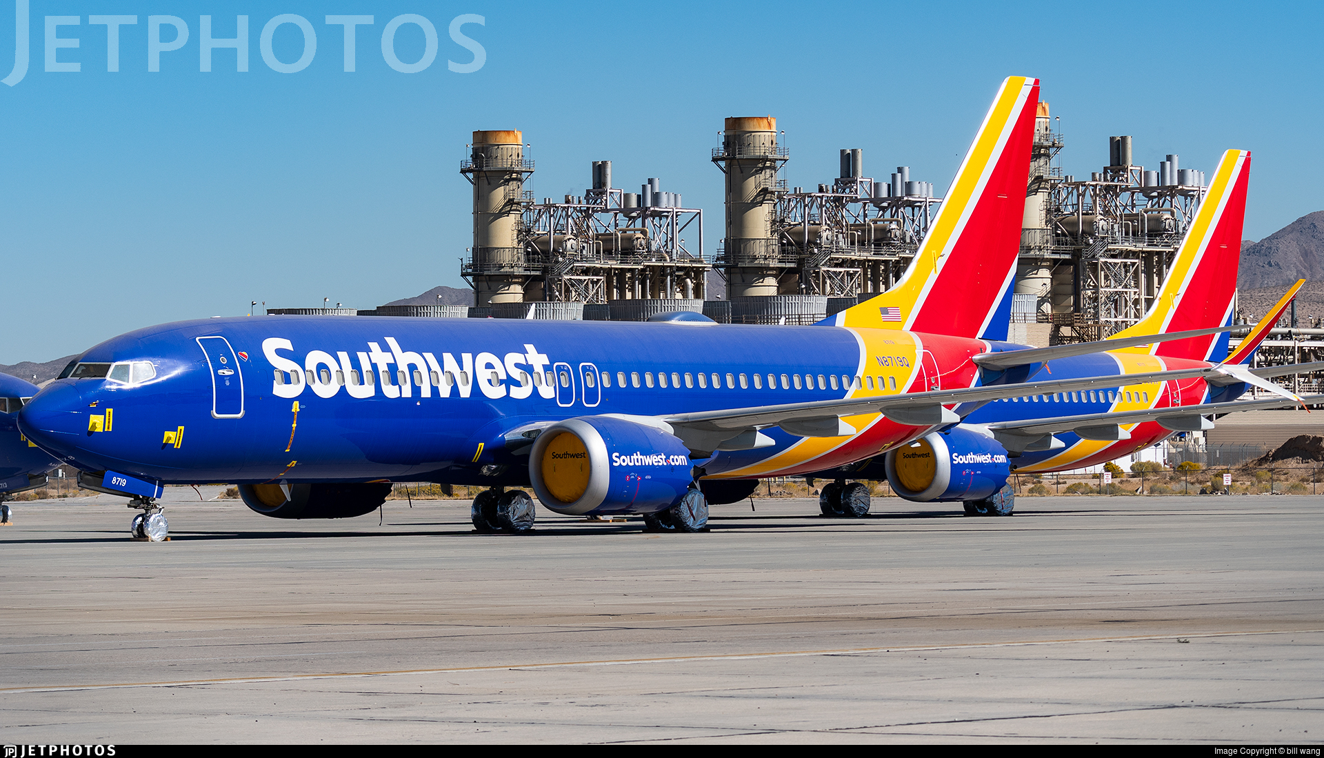 Southwest Airlines 737 MAX parked Victorville
