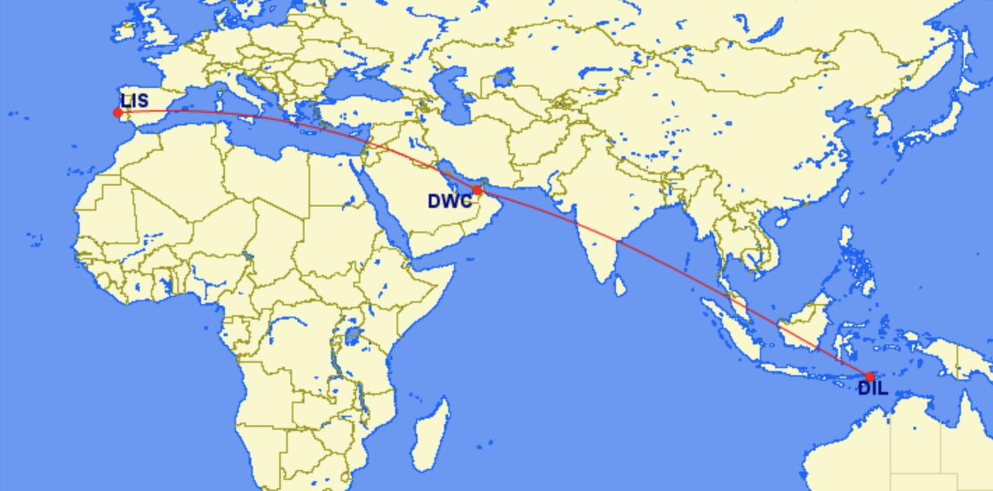 EuroAtlantic mystery flight Lisbon Dubai Dili