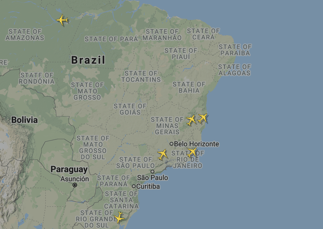 737 MAX in Brazil GOL currently active flights