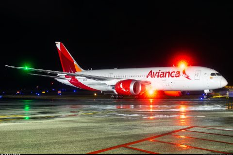 Colombia US traffic Avianca Boeing 787 Dreamliner