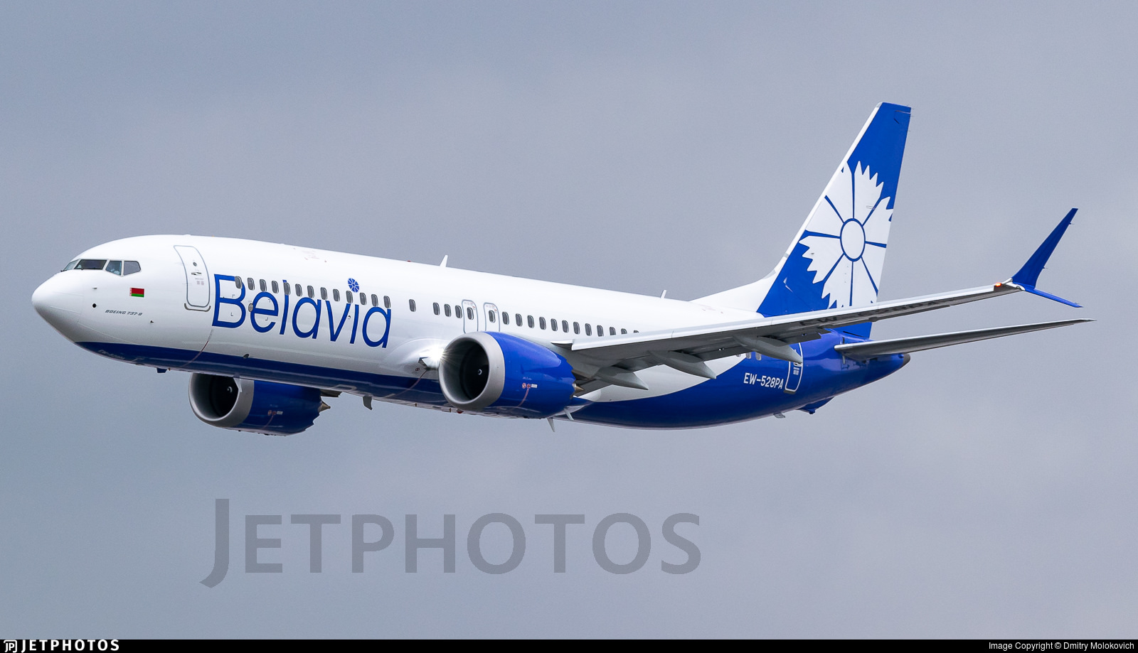 Belavia's first and only 737-8 MAX arriving in Minsk.