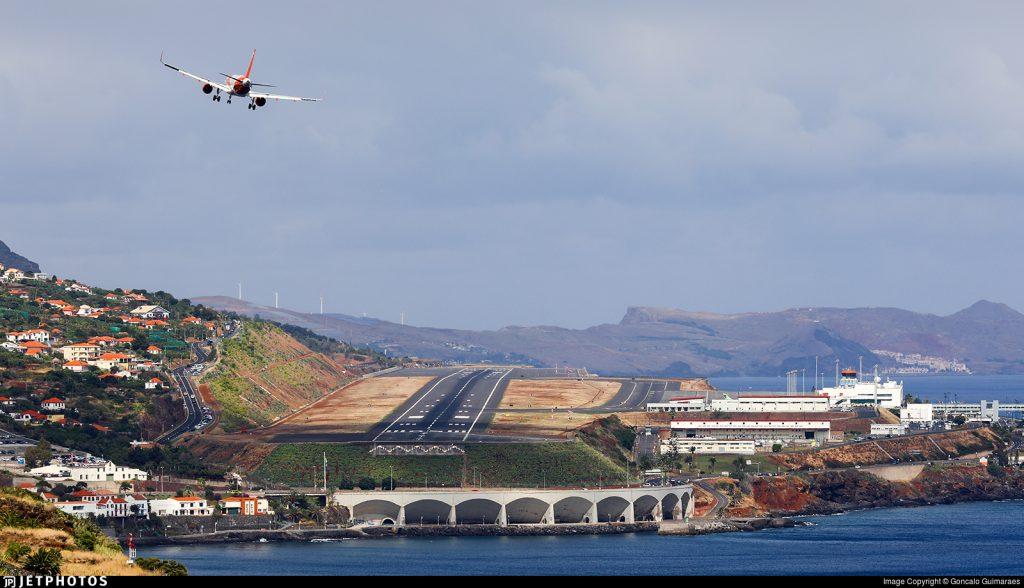 Funchal Madeira runway overview
