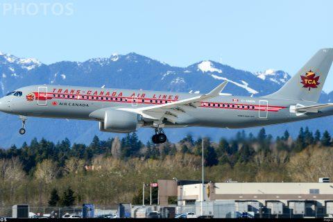 Air Canada A220 retro livery spectacular Trans Canada Air Lines