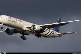 Air France long-haul transatlantic data Skyteam 777-300ER Boeing