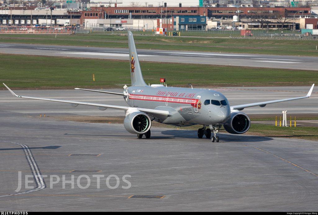 Air Canada A220 retro livery special color scheme