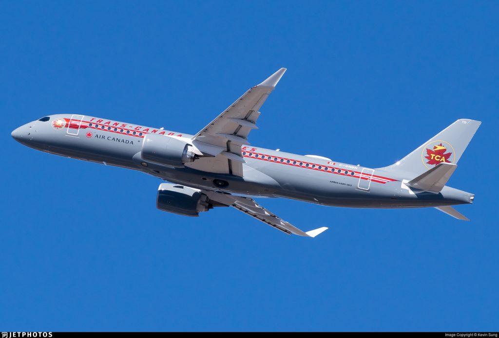 Air Canada A220 C-GNBN retro livery