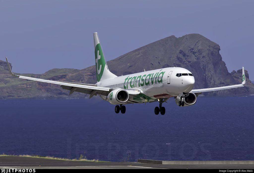 Transavia landing Funchal Madeira