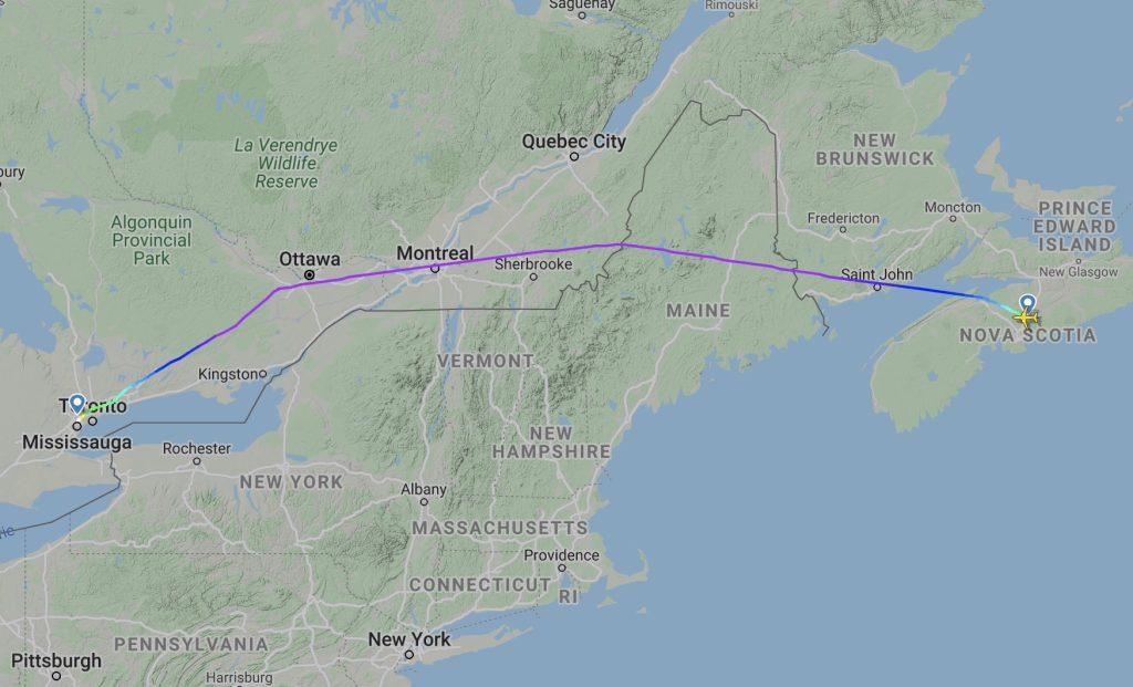 Air Canada A220 Flightradar24