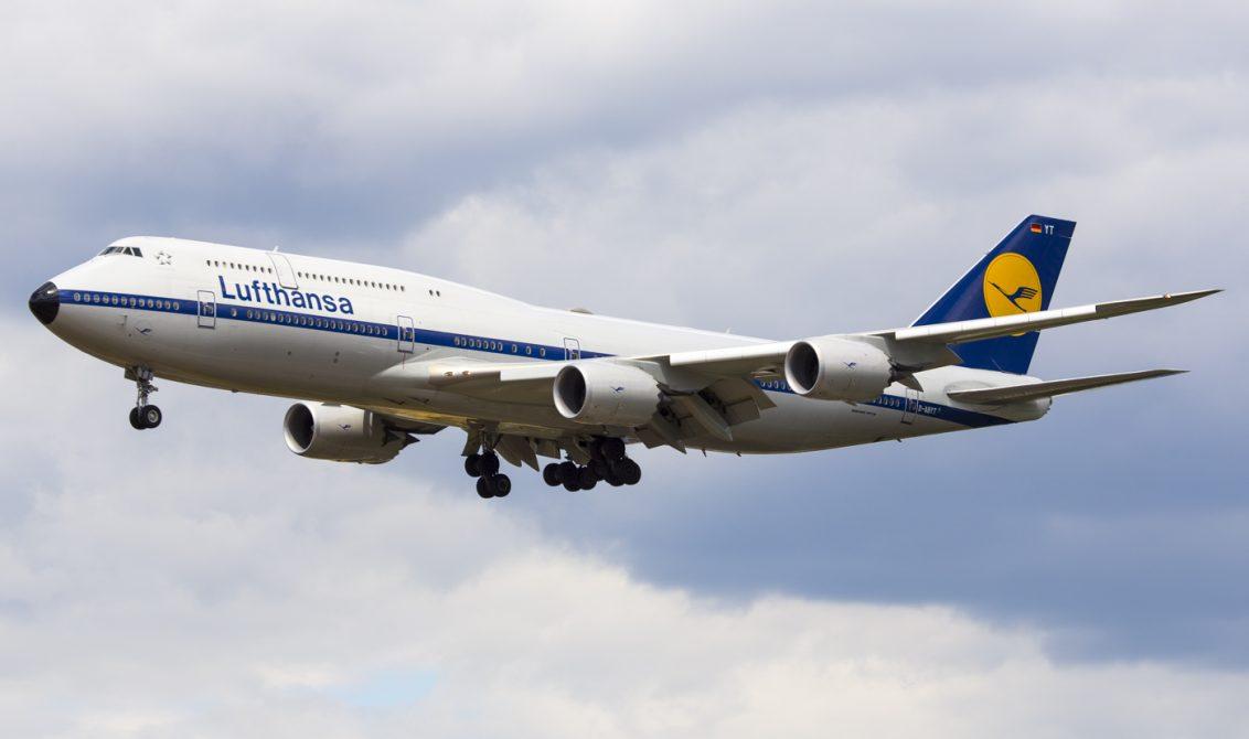 Lufthansa 747-8 jumbo jet D-ABYT active fleet flying
