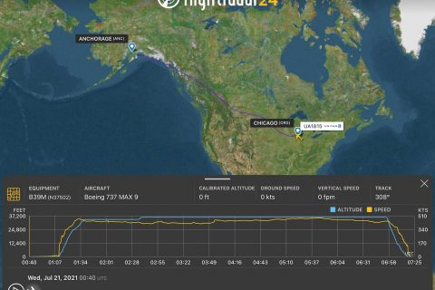 Example of the updated individual flight playback screen