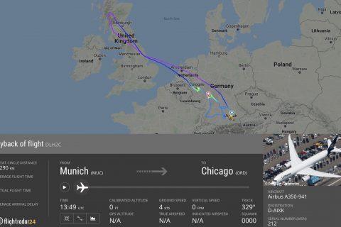 Flightpath of LH434